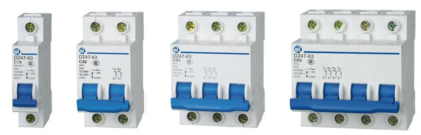 额定工作电压为230v/400v及以下,额定电流至63a的电路中,该断路器主要
